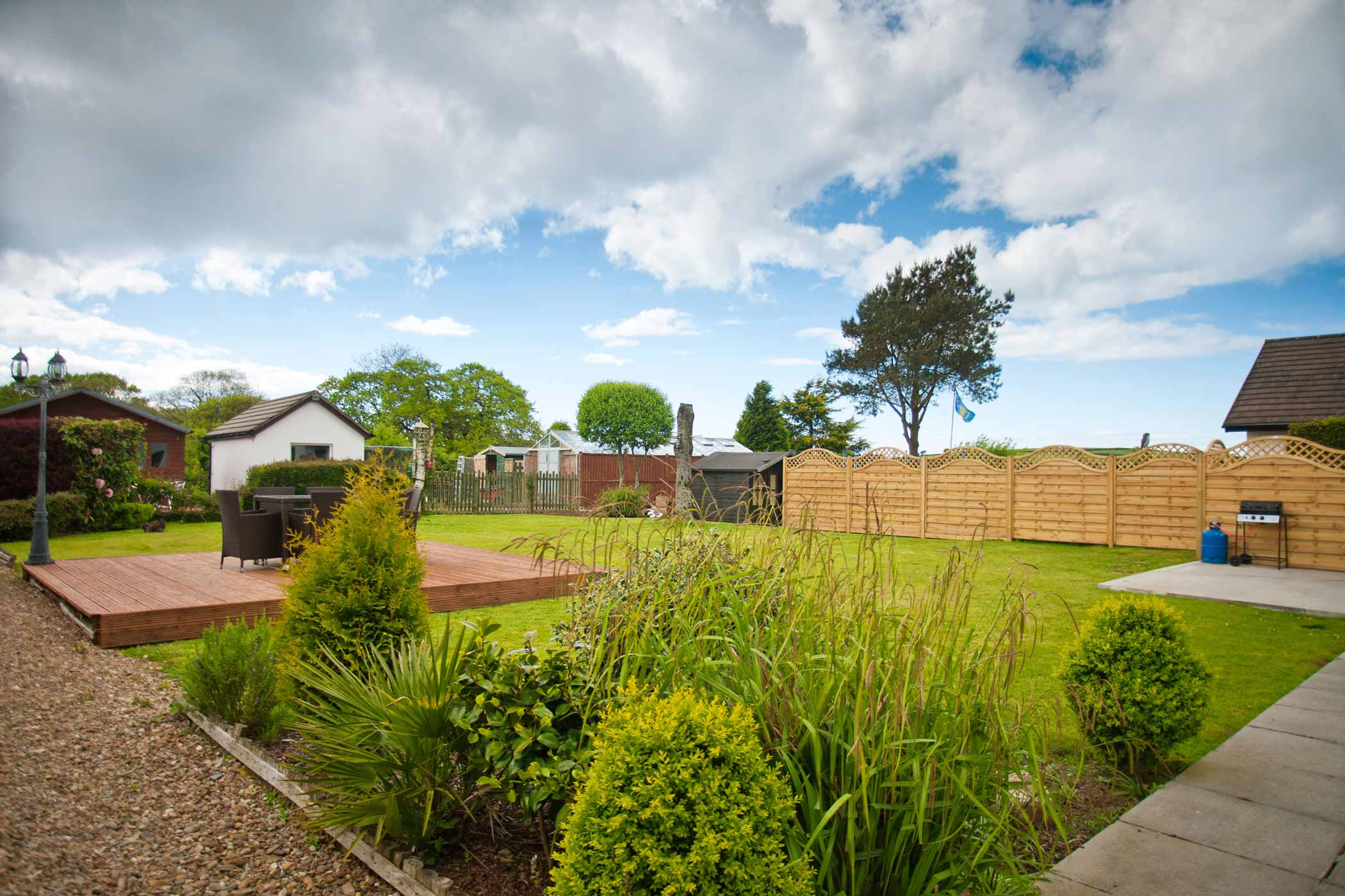 Parc Gwair Holiday Cottage Garden New Quay