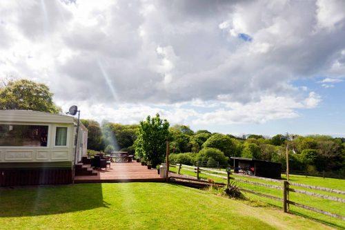 Parc Gwair Caravan Lawn and Decking