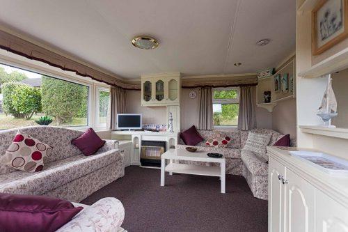 Parc Gwair Caravan Living Room